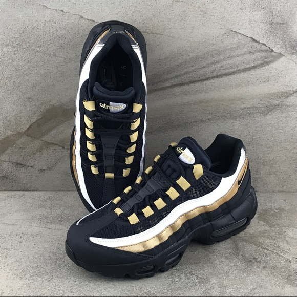 NEW NIKE AIR Max 95 OG Size 5 Mens Womens 6.5 Sneaker AT2865 002 Black Gold